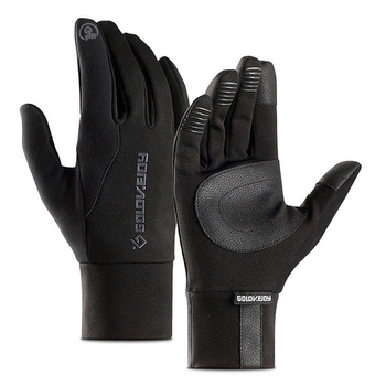 Fishing Gloves Outdoor Waterproof Winter Touch Screen Palm Leather Non-Slip