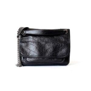 Image 3 - Genuine real leather cowhide handbag women fashion Y popular for ladies 2019 muti use shoulder bag