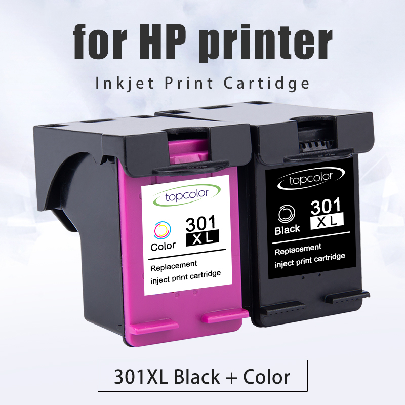 Topcolor 301XL Replacement for <font><b>HP</b></font> 301 <font><b>Ink</b></font> <font><b>Cartridge</b></font> hp301 XL Deskjet 2050 2540 2510 1000 1050 Envy 4500 OfficeJet <font><b>2620</b></font> Printer image