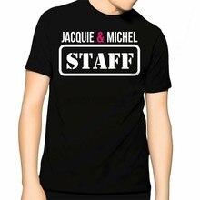 Tee shirt tee shirt jacquard et Michel STAFF