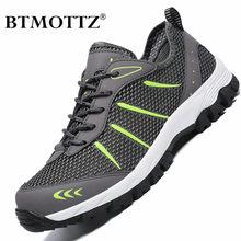 Malha sapatos casuais verão ao ar livre tênis de água dos homens formadores não-deslizamento escalada caminhadas sapatos respirável treking masculino