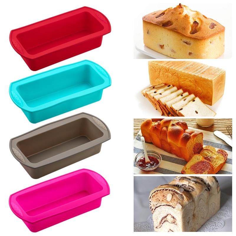 Силиконовая форма для выпечки, круглая Силиконовая прямоугольная форма для хлеба форма для выпечки хлеба торт лоток плесень антипригарное покрытие формы для выпечки Инструменты Формы для тортов    АлиЭкспресс - форма для выпечки