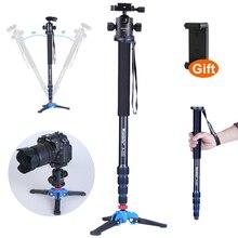 "Manbily A-222 Camera Monopod,Portable Professional DSLR Monopod For Canon Nikon DSLR DV Lightweight Monopod Max:65"""