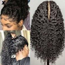 Парики из человеческих волос с глубокой частью 13x6x1 на сетке спереди для женщин, кудрявые и кудрявые, без клея, бразильские, Remy, предварительн...