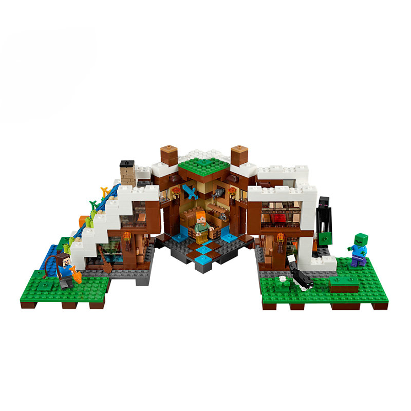 The Waterfall Base Building Blocks With Steve Action Figures Compatible LegoINGlys MinecraftINGlys Sets Toys 21134 4