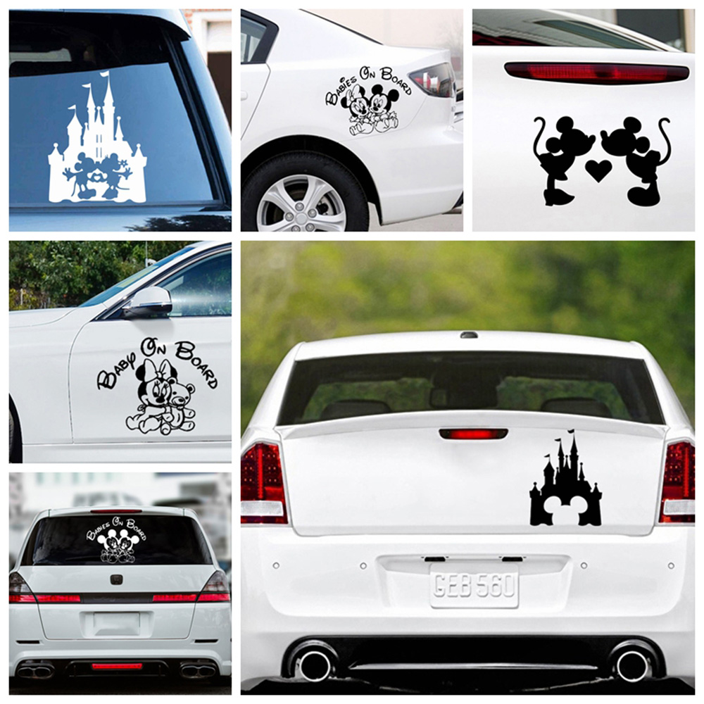 Car Stickers Mickey Minnie Decal Laptop Decals For Jeep Car Sticker Decor Large Bear Car Accessories