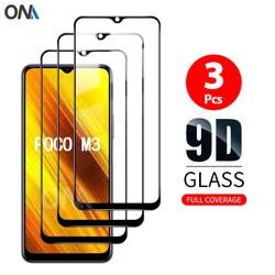 Screen Protector For Xiaomi Poco M3 Tempered Glass Premium Full Coverage Protection Glass Film For Xiaomi Poco M3