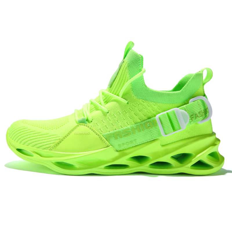 Men Running Shoes Ultra-light Sport Shoes Fly Weaving Shoe Shockproof Breathable Sneakers Height Increase Walking Gym Shoe