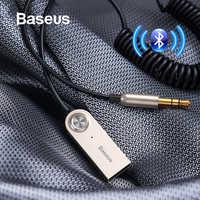 Baseus USB Bluetooth adaptateur Aux Bluetooth V5.0 récepteur Audio émetteur Dongle câble pour voiture 3.5mm Jack voiture adaptateur câble