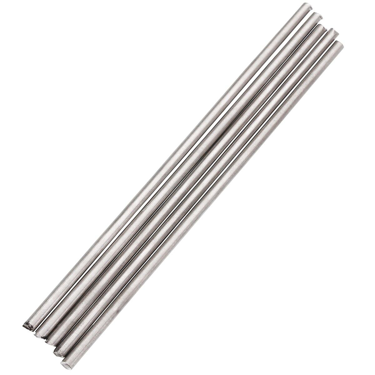 5Pcs Titanium Rod Sliver Titanium Ti Grade 5 GR5 Metal Rod Diameter 4mm Length 250mm For Soldering Welding