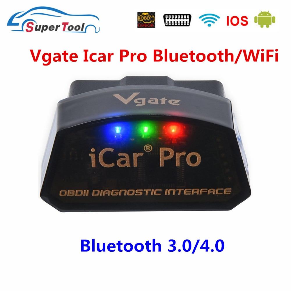 Автомобильный диагностический сканер OBD2 Vgate Icar Pro, Bluetooth 3,0/4,0/Wi-Fi, для Android/IOS, ELM 327, V2.1