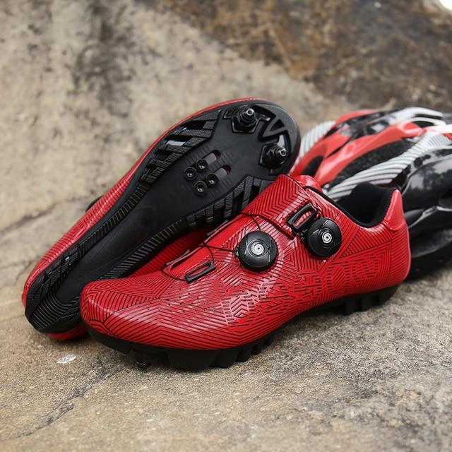 Mtb ciclismo sapatos homem competição de corrida profissional estrada mountain bike equitação sapato tênis ao ar livre auto-lock hombre 3