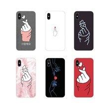 Силиконовый чехол для Huawei Honor 4C 5C 6X 7 7A 7C 8 9 10 8C 8S 8X 9X 10I 20 Lite Pro kpop Heart Drawing Love on the finger(China)