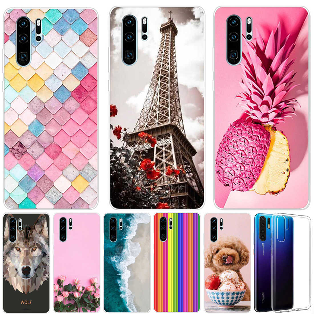 Coque For Huawei P30 Lite Case Silicon Capa Phone Case Huawei P30 Pro Case Transparent Funda Huawei P30 P 30 Lite P30 Pro Cover