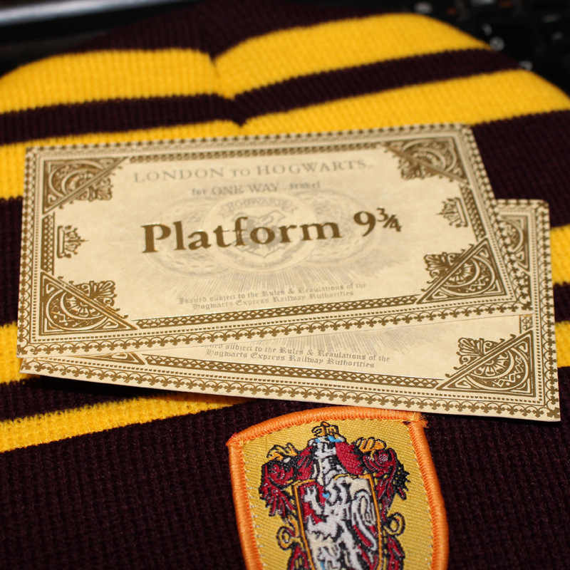 HP Potters Hogwarts Bros 9 ¾ Tiket Stasiun Huruf Masuk Hogwarts Peta Hidup Koin Emas untuk Penggemar