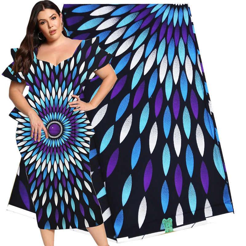 Duurde Black & White Afrikaanse Stof Real 2019 Nieuwe Ankara Afrikaanse Wax Print 6 Yards/Lot Voor Vrouwen Bruiloft jurk