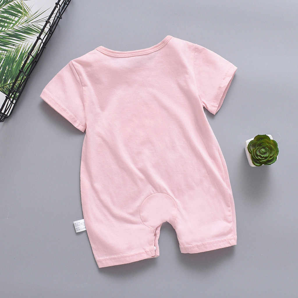 Newborn Baby Boy Girl Rompers Short Sleeve Jumpsuit Sun Cloud Moon Print Fashion Sun Cloud Moon Pattern Type baby jumpsuit