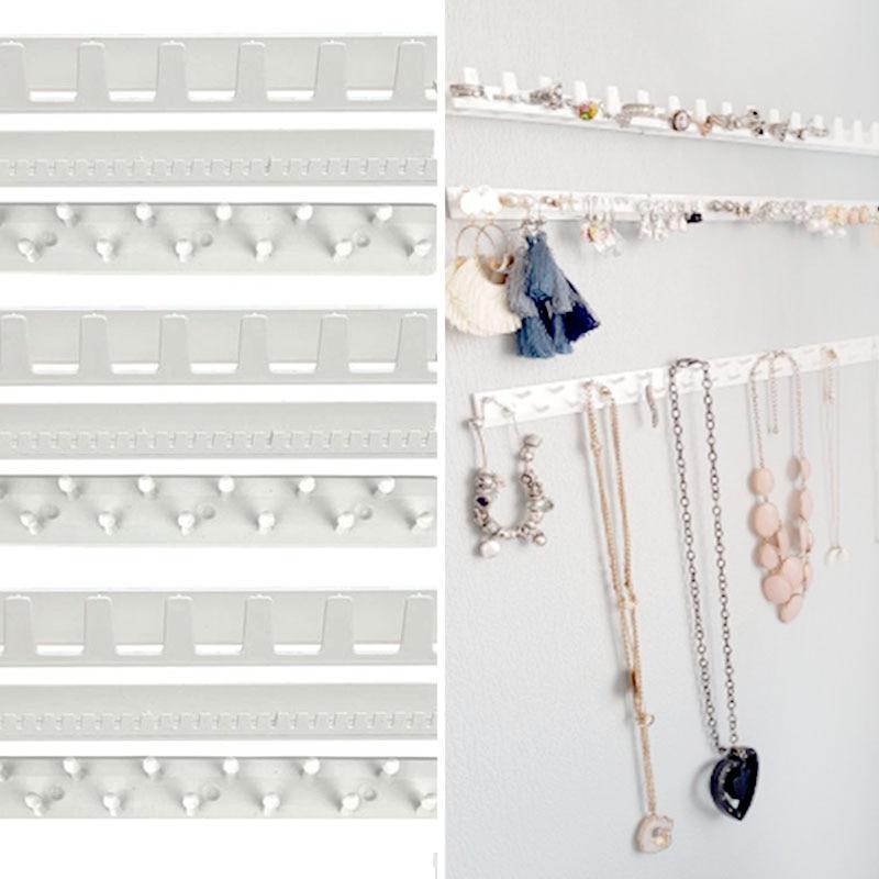 9pcs Jewelry Organizer Display Adhesive Hanger Jewelry Storage Earring Ring Organizer Earring Necklace Ring Display Holder
