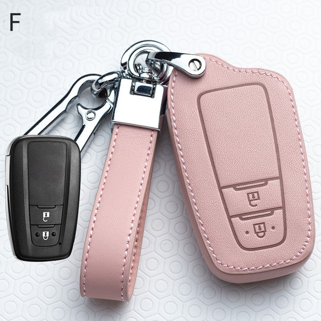 Leather Car Key Cover Case For Toyota Prius Camry Corolla C-HR CHR RAV4 Prado Auris Avensis Land Cruiser 200 Prado Crown Revo