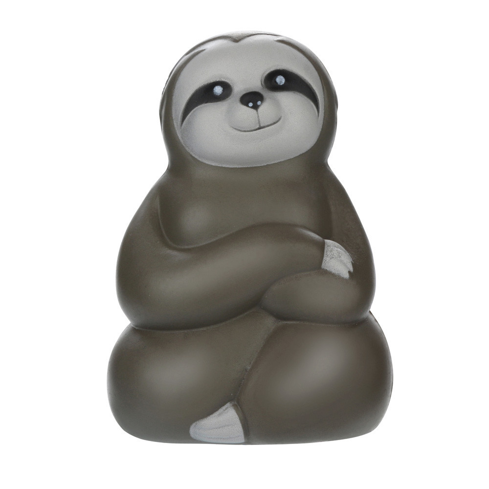 Funny Cute Sloth Rebound PU Toy Soft Rubber Squeeze Toys Stress Relieve Toys Cartoon Decoration Doll Stretchy Healing Toys #A