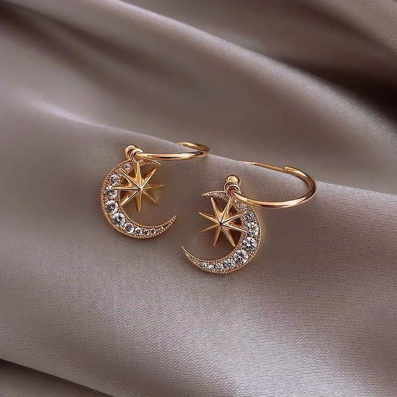 Korean Earrings Fashion Jewelry Moon Star Earrings Oorbellen Brincos Statement Earrings Punk Earrings For Wome Wholesale