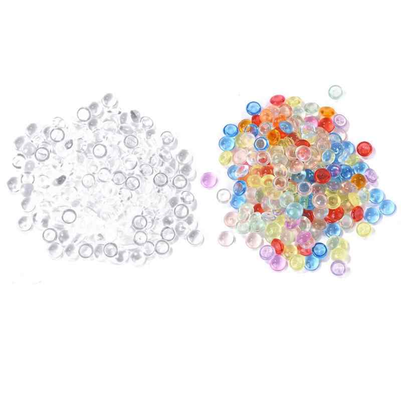 DIY Round Water Drop Bead Flat Back Gems Crystal Acrylic Clothing Sequins