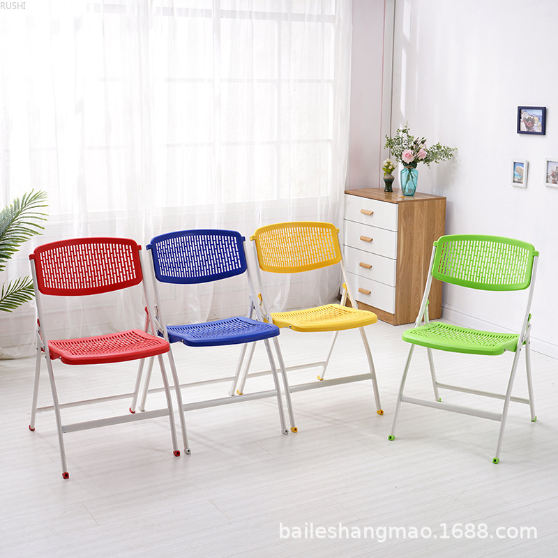 Folding Plastic Training Chair, Office Conference, Activity, Back Folding Chair, Simple Folding Chair
