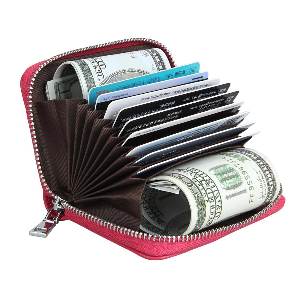 Luxury Genuin Leather Tassel Credit Card Holders Organ RFID Card Holder Wallet Women Business Men  Cardholder Organizer Purse