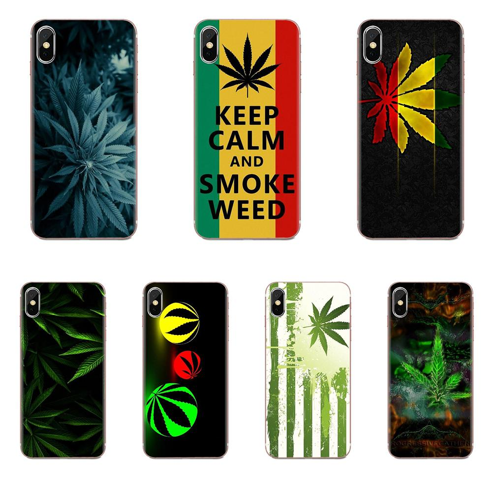 Weed Wallpapers Ultra Thin Cartoon Pattern Tou Phone Case For Apple iPhone 11 Pro X XS Max XR 4 4S 5 5C 5S SE 6 6S 7 8 Plus image