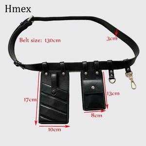 Image 5 - Neue Pu Leder Fanny Pack Taille Tasche Gürtel für Frau Schulter Tasche handy Packs Brust Weibliche Geldbörse Umhängetasche