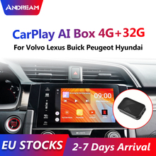 Android 7,0 Carplay caja AI 4 + 32G reproductor Multimedia enlace espejo YouTube Android Sistema y Auto caja de TV