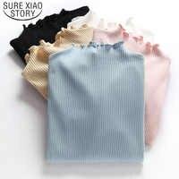 2019 à manches longues chemise haut en maille Poleras De Mujer Moda femmes chemise femmes coton T-shirt haut pour femme T-Shirt décontracté T-shirt 6268 50
