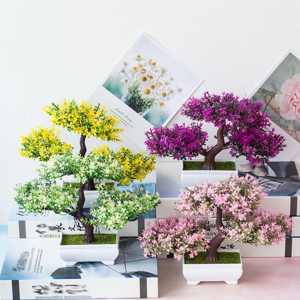 1Pc Containing Pots Artificial Flower Pine Tree Plant Photograph Prop Wedding Home Bonsai DecorHotel Garden Decor