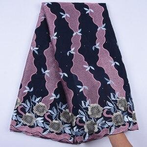 Image 3 - Tanie bawełniany materiał szwajcarski koronkowy woal w szwajcarii z kamieni afryki tkanina koronkowa typu dry Lace wysokiej wysokiej jakości nigeryjski koronki FabricA1692