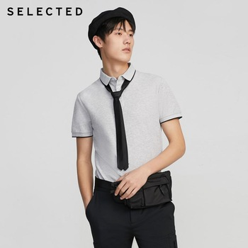 SELECTED Mens Summer Turn-down Collar Short-sleeved Polo S|419206503
