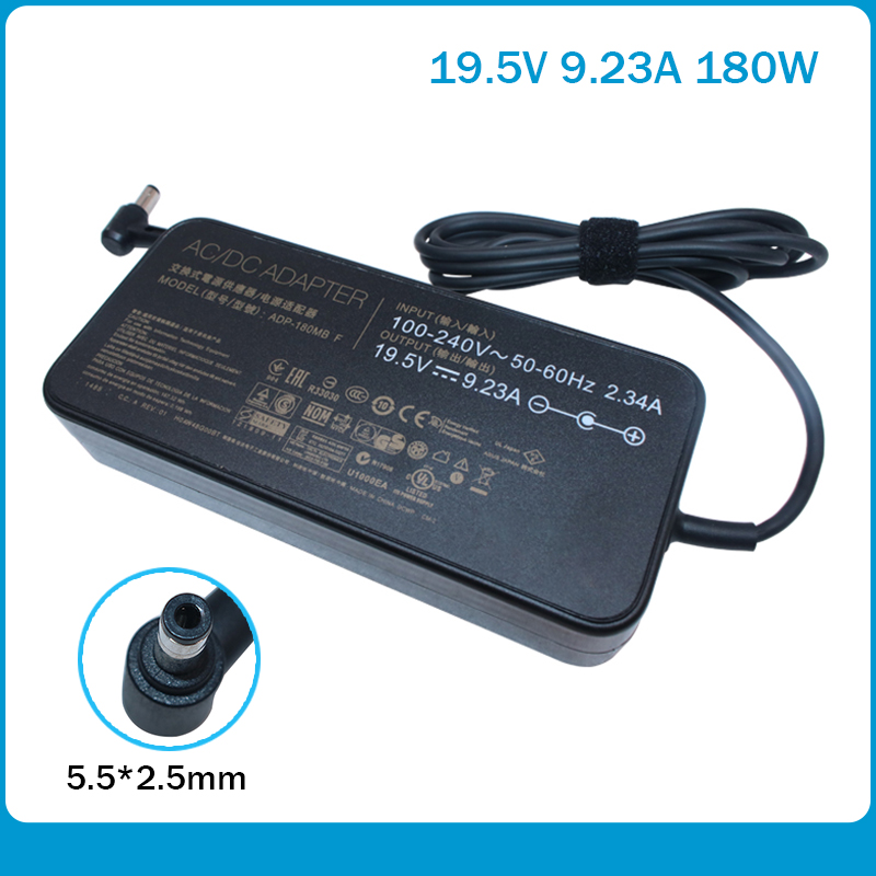 19.5V 9.23A Laptop Charger ADP-180MB F FA180PM111 AC Adapter For Asus ROG G750JM G751JM FZ50VW GL702VM 5.5*2.5mm