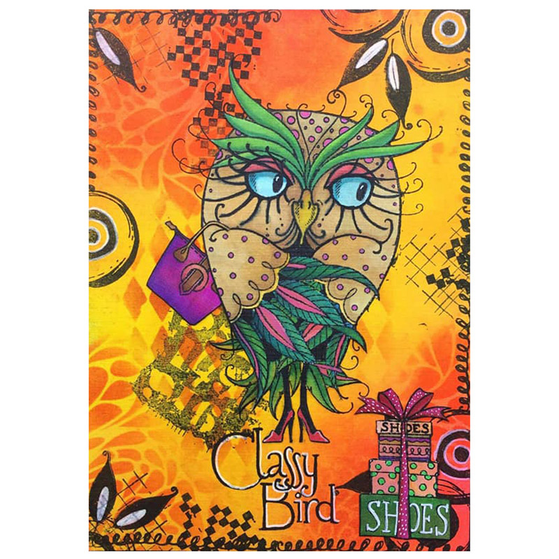 Owl Classy Bird Letter Gift Bag Hat Animals Leaves Shoes Clear Silicone Stamps Scrapbook Craft Make Cards DIY Template Stamp Hot-3