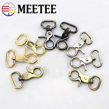 4pcs Meetee 20/32/26/38mm Bag Metal Buckle Luggage Strap Belt Webbing Clip Buckles Collar Swiver Clasp Snap Hook DIY Accessories