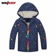 Children Outdoor Thick Fur Liner Warm Hiking Jacket Kids Hoody Printed Camping Jacket Plus Size Sportswear Outerwear Girl Jacket