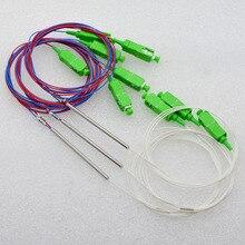 цена на 30pcs New Mini Optic Fiber Splitter SC/APC 1x2 Single Mode 0.9mm  5:95,10:90 Fiber Optic Splitter Special Wholesale