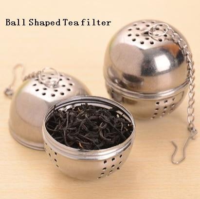 1pcs Ball Tea Infuser Mesh Filter Silver Stainless Steel Ball Teakettles Strainer Tea Filter Locking Hot Home Kitchen Tools
