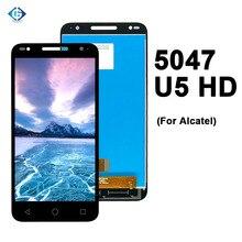 ألكاتيل U5 HD 5047 5047D 5047I 5047U 5047Y شاشة كاملة تعمل باللمس LCD لوحة تجميع محول الأرقام لاستبدال الكاتيل