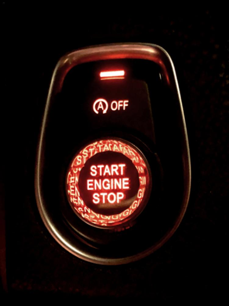 Botão Interruptor Tampa Decoração 25*12mm para BMW X3 X4 X5 X6 2012-2019