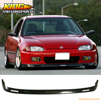 Fit For 1992-1995 Honda Civic EG 2 3Dr BYS Poly Urethane Front Bumper Lip Spoiler Global Free Shipping Worldwide