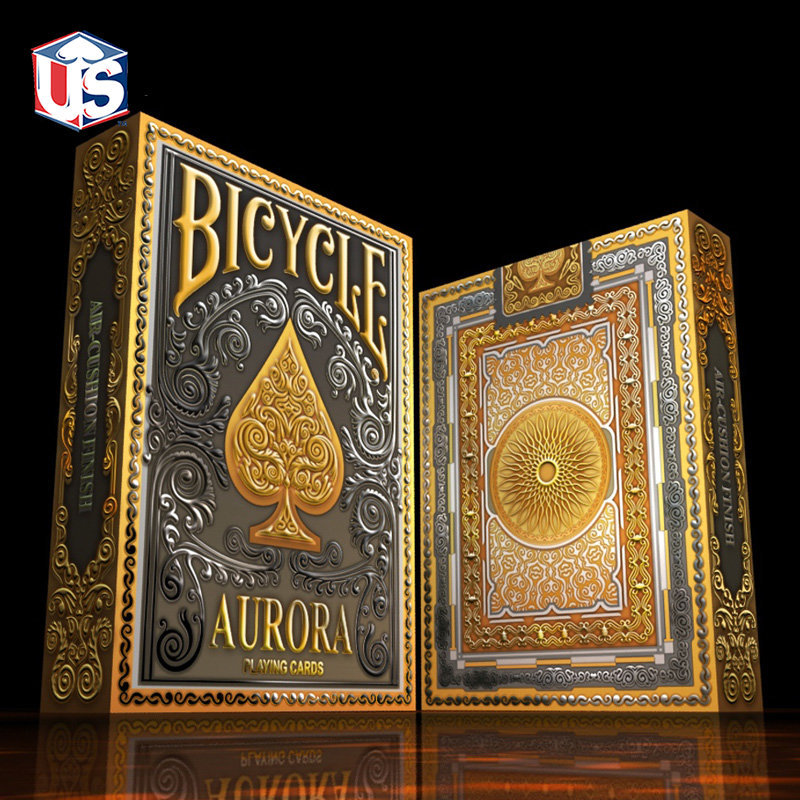 1 Deck Bicycle Aurora Playing Cards Premium Gold Silver Poker Size Magic Cards New Sealed Magic Tricks Props For Migician