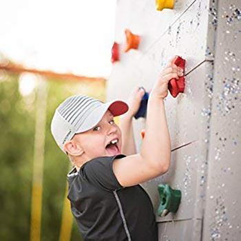 6PC wspinaczka ramki dla dzieci ściana wspinaczkowa kamienie stopy dłoni trzyma uchwyt zestawy sprzętu dzieci do wspinaczki na świeżym powietrzu akcesoria sportowe tanie i dobre opinie CAMPSLE Dziecko Climbing Frame Kids Rock Climbing Wall Stones Hand Feet Holds Grip