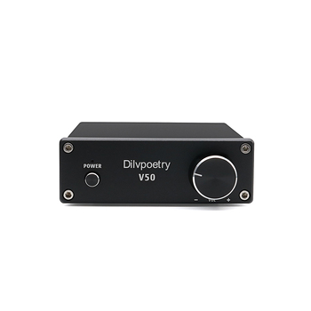 Dilvpoetry V50  Mini 2.0 Channel Hi-Fi Stereo audio amplifier  Digital Power Amp with TPA3116D2 Preamp 50w Power Supply