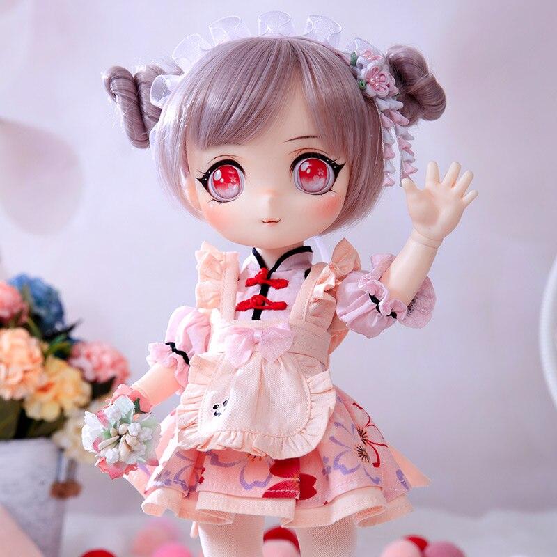 OUENEIFS BJD Lotus Doll1/6 Model Baby Girls Boys Doll Toys For Children Friends Surprise Gift Christmas Present