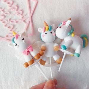 Unicorn Cake Topper Decor Unicorn Brithday Party Decor Boy Girl Baby Shower Decor Unicornio My Little Pony Birthday Favors