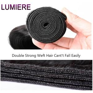 Image 5 - Прямые пряди Lumiere, перуанские волосы, волнистпряди, 100% человеческие волосы, пучки натурального цвета, двойной уток, волнистые волосы Remy